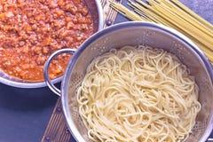 Spaghetti bolognese sauce Royalty Free Stock Photo
