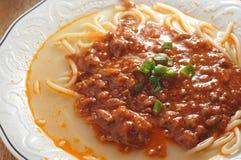 Spaghetti Bolognese soup Stock Photos