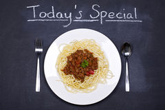 Spaghetti bolognese special Stock Photography
