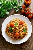 Spaghetti bolognese, top view Stock Photography