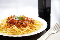 Spaghetti bolognesi Royalty Free Stock Images