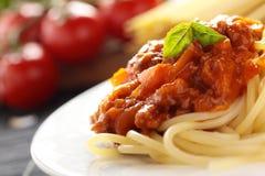 Spaghetti Bolonais. Images libres de droits