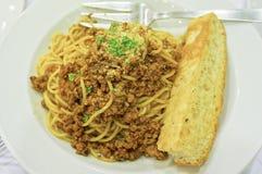 Spaghetti Bolonais Images libres de droits