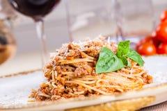 Spaghetti Bolonais Photographie stock libre de droits