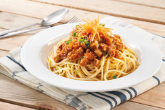 Spaghetti Bolonais image stock