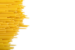 Spaghetti border. Italian noodle (speghetti) border background Stock Images