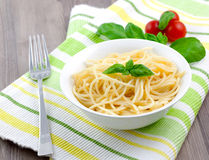 Spaghetti in bowl Royalty Free Stock Photo