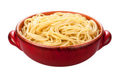 Spaghetti Bowl isolated Royalty Free Stock Photography