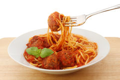 Spaghetti in bowl Royalty Free Stock Image