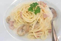 Spaghetti cabonara Royalty Free Stock Photos