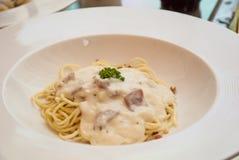 Spaghetti Cabonara Stock Photo