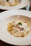 Spaghetti Cabonara Royalty Free Stock Photography