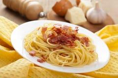 Spaghetti carbonara Royalty Free Stock Images