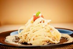 Spaghetti carbonara obrazy royalty free
