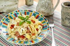 Spaghetti Carbonara photos libres de droits