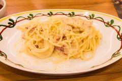 Spaghetti Carbonara photographie stock