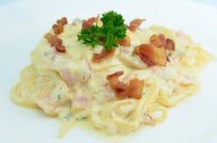 Spaghetti Carbonara image libre de droits