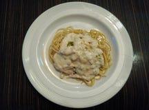 Spaghetti Carbonara Royalty-vrije Stock Foto's