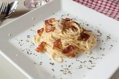 Spaghetti Carbonara Immagine Stock Libera da Diritti