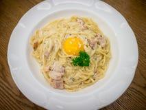 Spaghetti Carbonara Zdjęcie Royalty Free