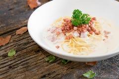 Spaghetti Carbonara Immagini Stock Libere da Diritti