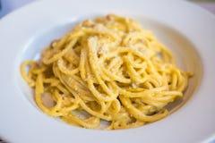 Spaghetti Carbonara Fotografia Stock Libera da Diritti