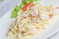 Spaghetti Carbonara Royalty Free Stock Image