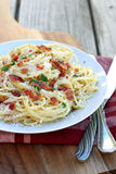 Spaghetti Carbonara Stock Images