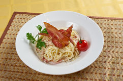 Spaghetti carbonara Royalty Free Stock Images