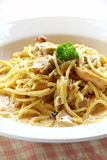 Spaghetti Carbonara Chicken Stock Images