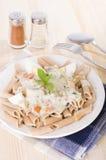 Spaghetti carbonara pasta Stock Photo