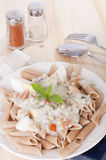 Spaghetti carbonara pasta Stock Images