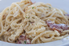 Spaghetti carbonara series 01 Royalty Free Stock Photos