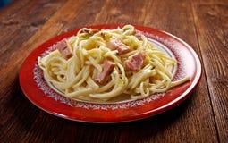 Spaghetti Carbonara Stock Image