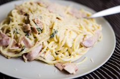 Spaghetti carbonara Royalty Free Stock Photo