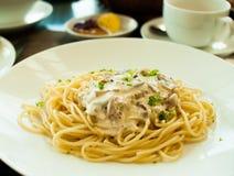 Spaghetti carbonara Royalty Free Stock Photo