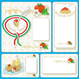 Spaghetti Cards Stock Images