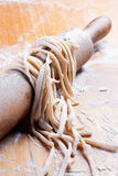 Spaghetti casalinghi fotografia stock libera da diritti