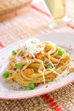 Spaghetti with cheese Royalty Free Stock Images