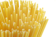 spaghetti ciasta makaronowego niegotowane Fotografia Royalty Free