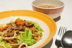 Spaghetti cinesi Fotografia Stock Libera da Diritti