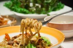Spaghetti cinesi Immagini Stock