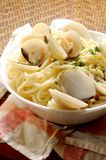 Spaghetti with clams  seafood style recipe Royalty Free Stock Photos