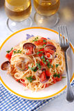 Spaghetti with clams Royalty Free Stock Photo