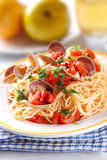 Spaghetti with clams Stock Images