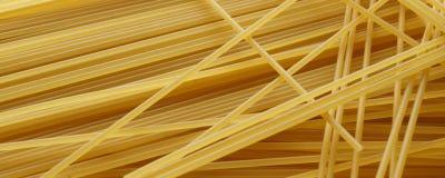 Spaghetti close up - banner / header edition Stock Photos