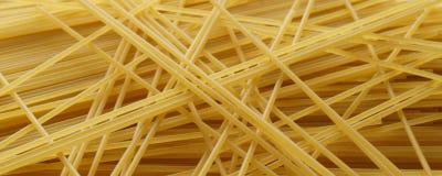 Spaghetti close up - banner / header edition Stock Image