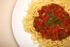 Spaghetti closeup Royalty Free Stock Photography