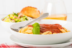 Spaghetti Closeup Royalty Free Stock Images