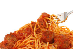 Spaghetti closeup Stock Photography